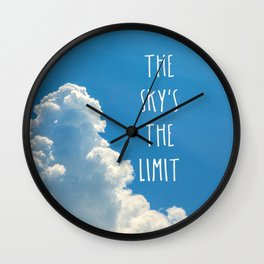 The Sky's the Limit Wall Clock