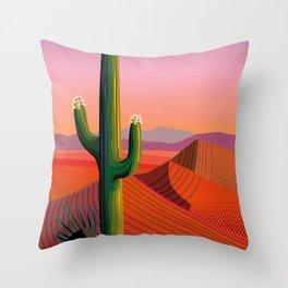 Saguaro Blossoms Throw Pillow