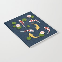Japanese Koi Fish Pond Notebook