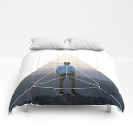 Top of the World Boy - Geometric Photography Comforters