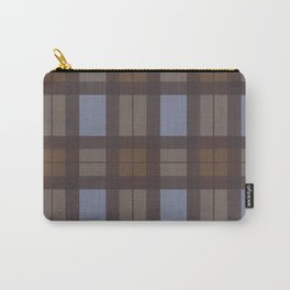 Brown and Blue Tartan Carry-All Pouch