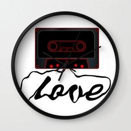 Unwound Love Audio Cassette Wall Clock