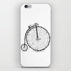 wooden bicycle iPhone & iPod Skin