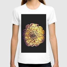 Golden Dahlia Mandala T-shirt