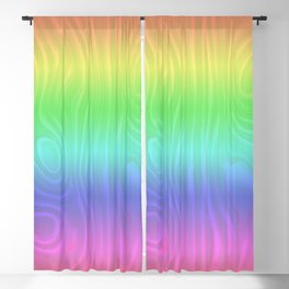 Groovy Pastel Rainbow Blackout Curtain
