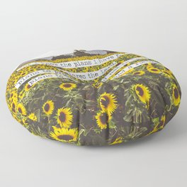 Jeremiah Sunflowers Floor Pillow