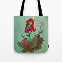 poison ivy Tote Bags featuring Poison Ivy by Tyler Lederer