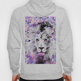 LION PINK and WHITE Hoody