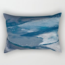Aerial Glacier - Alaska Rectangular Pillow