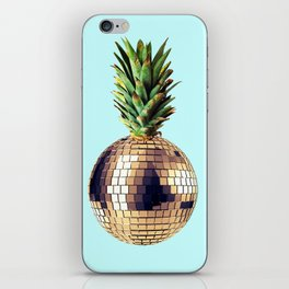 Ananas party (pineapple) blue version iPhone Skin