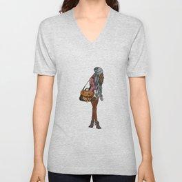 Fashion girl Unisex V-Neck