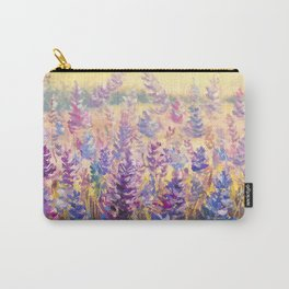 Glade of gentle flowers oil painting by Rybakow Carry-All Pouch