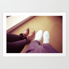 Take a walk in my shoes. Art Print
