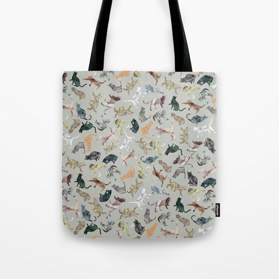 Marble Cats Tote Bag