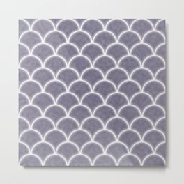 Large lilac gray scallops with fractal texture Metal Print