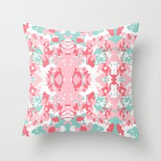 Arabella - abstract minimal pattern print art home decor trendy girly boho dorm college painting Throw Pillow