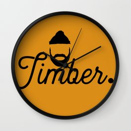 Timber. Wall Clock