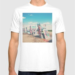 Route 66 graffiti print  T-shirt