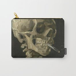 Vincent Van Gogh - Skull with Burning Cigarette, 1885 Carry-All Pouch