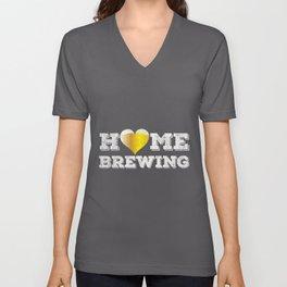 Homebrewing Love   brewing Craft Beer Brewer Ale Unisex V-Neck