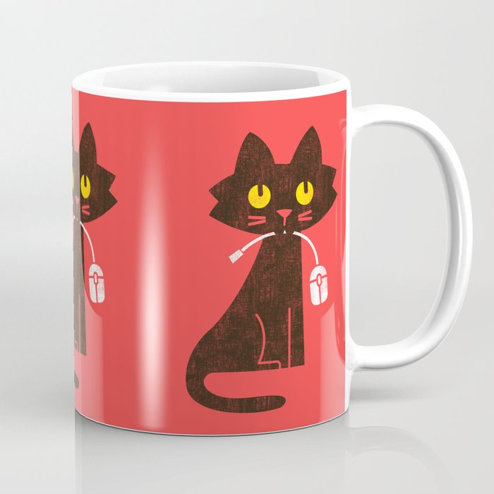Fitz - Hungry hungry cat (and unfortunate mouse) Coffee Mug