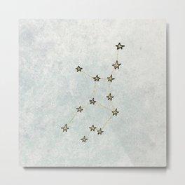 Virgo x Astrology x Zodiac Metal Print