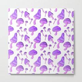 Purple Mushroom Metal Print