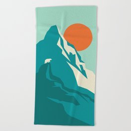 As the sun rises over the peak Beach Towel