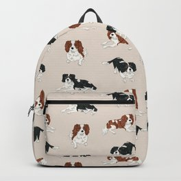 Cavalier King Charles Spaniels Mully and Sojo Backpack