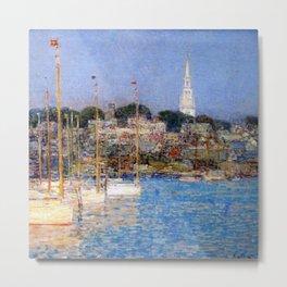 Newport Harbor, Newport, Rhode Island - Cat Boats by Frederick Childe Hassam Metal Print
