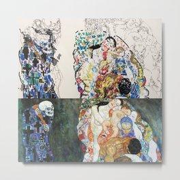 "Study of Klimt's ""Death and Life"" Metal Print"