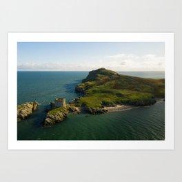 Aerial view of Ireland's Eye Art Print