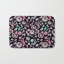 Creepy Cute Floral Occult Print Bath Mat