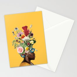 Flower Power- Bright Yellow Stationery Cards