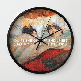 Sharing Beds Wall Clock