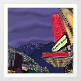 Granville Street at Night Art Print