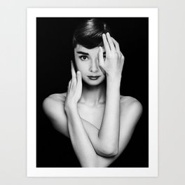 Audrey Hepburn Unpublished Photos Art Print