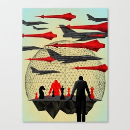"""""""Let's Play War"""" by Brian Stauffer for Nautilus Canvas Print"""