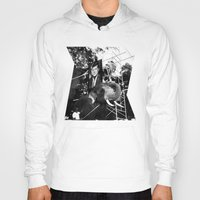 jfk Hoodies featuring A Photograph of JFK on an Elephant by J.G.