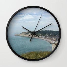 Etretat, France - Coastline Wall Clock