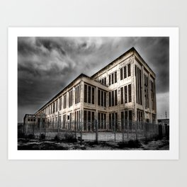 Old Abandoned Power Station Building Art Print