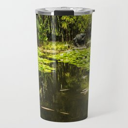 Turtle in a Lily Pond Travel Mug