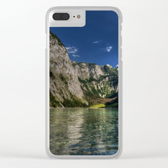 Mountain lake- Alpes Nature Outdoors Mountains Alpes - #Society6 Clear iPhone Case