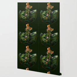 Naiad with Pond Dress Wallpaper