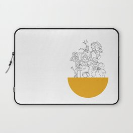 VESSEL - Floral Ink in Mustard - Cooper and Colleen Laptop Sleeve