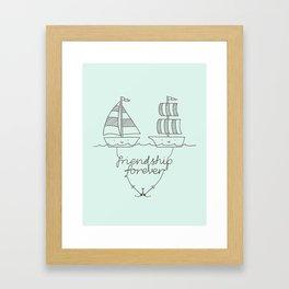 Friendship forever Framed Art Print