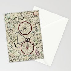 Love Fixie Road Bike Stationery Cards