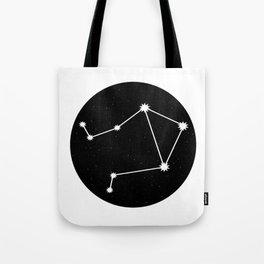 Libra Star Sign Night Sky Circle Tote Bag