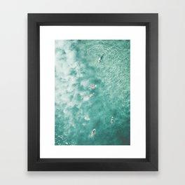 Surfing in the Ocean Framed Art Print