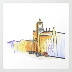 simple London on white background Art Print
